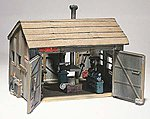 Tucker Brothers Machine Shop HO Scale -- HO Scale Model Railroad Building -- #d240