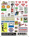 Taverns/Gas Station Signs -- Model Railroad Decal -- #dt551