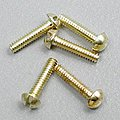 (bulk of 3) Round Head Screws 0-80 1/4 (5) (bulk of 3) -- Model Railroad Scratch Supply -- #h806