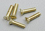 (bulk of 3) Flat Head Screws 0-80 1/4 (5) (Bulk of 3) -- Model Railroad Scratch Supply -- #h846