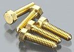 (bulk of 3) Hex Head Screws 0-80 1/4 (5) (Bulk of 3) -- Model Railroad Scratch Supply -- #h866