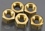 (bulk of 3) Hex Nuts 1-72 (5) (Bulk of 3) -- Model Railroad Scratch Supply -- #h883