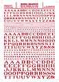 Roman R.R. Letters -- Red -- 1/16'' - 5/16'' -- Model Railroad Decal -- #mg704