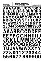 Gothic R.R. Letters -- Black -- 3/8'' - 1/2'' -- Model Railroad Decal -- #mg732