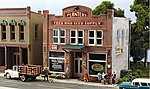 Pre-Fab Building -- Planters Feed & Seed Supply HO -- HO Scale Model Railroad Building -- #pf5181