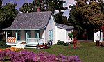 Pre Fab Country Cottage N Scale -- N Scale Model Railroad Building -- #pf5206