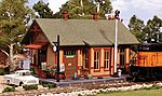Pre Fab Woodland Station N Scale -- N Scale Model Railroad Building -- #pf5207