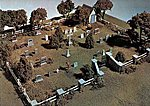 Maple Leaf Cemetery Kit HO Scale -- HO Scale Model Railroad Building Accessory -- #s131