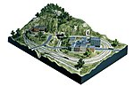Town & Factory Set N Scale -- N Scale Model Railroad Building -- #s1485