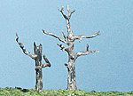 Metal Tree Trunk Armature Kit -- Dead Trees (5) -- Model Railroad Tree -- #tk22