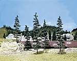Pine Trees 6'' - 9'' (5) -- Model Railroad Tree -- #tk23