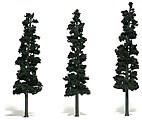 Scenic Accents -- Assembled Conifer Pine Green 7''-8'' (3) -- Model Railroad Tree -- #tr1563