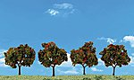 Apple Trees 2'' -3'' (4) -- Model Railroad Tree -- #tr3591