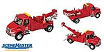 Intl 4300 Tow Truck Red - HO-Scale
