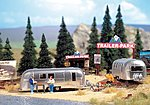 Camp Site with Trailers Kit -- HO Scale Model Railroad Accessories -- #2902