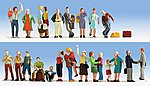 Travelers on the Platform -- HO Scale Model Railroad Figure -- #6032
