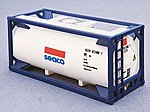 20' Tank Container Seaco -- HO Scale Model Train Freight Car Load -- #8101