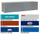 40' Hi-Cube Container - TEX -- HO Scale Model Train Freight Car Load -- #2064