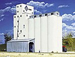 ADM(R) Concrete Grain Elevator - Kit -- HO Scale Model Railroad Building -- #3022