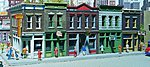 Merchant's Row I - Kit - 11 x 5 x 4'' -- HO Scale Model Railroad Building -- #3028