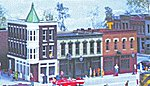 Merchant's Row II - Kit - 10 x 5'' 4 x 12.5cm -- HO Scale Model Railroad Building -- #3029