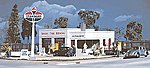 Al's Victory Service Station - Kit - 4 x 6 x 2-1/16'' -- HO Scale Model Railroad Building -- #3072