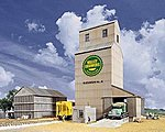 Valley Growers Association Steel Grain Elevator - Kit -- HO Scale Model Railroad Building -- #3096