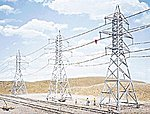 High-Voltage Transmission Tower (4) Kit -- HO Scale Model Railroad trackside Accessory -- #3121