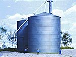 Big Grain Storage Bin - Kit - 5-1/2'' 13.9cm Diameter -- HO Scale Model Railroad Building -- #3123