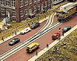 Brick Street System - Straight Sections pkg(8) -- HO Scale Model Railroad Road Accessory -- #3156