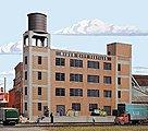 River City Textiles Background Building - Kit -- HO Scale Model Railroad Building -- #3178