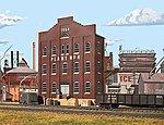 Plant No. 4 Background Building - Kit -- HO Scale Model Railroad Building -- #3183