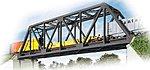 Single-Track Truss Bridge - Kit - 20 x 3-1/4 x 5'' -- HO Scale Model Railroad Bridge -- #3185