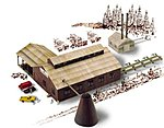 Mountain Lumber Co. Sawmill - Kit -- N Scale Model Railroad Building -- #3236