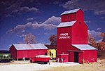 Farmer's Co-op Rural Grain Elevator - Kit -- N Scale Model Railroad Building -- #3238