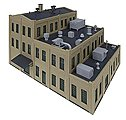Roof Details - Kit -- N Scale Model Railroad Building Accessory -- #3286