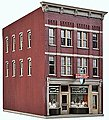 Jewelry Store - Kit - 3-9/16 x 5-7/8 x 6'' -- HO Scale Model Railroad Building -- #3476