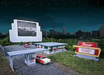 Skyview Drive-In - Kit -- HO Scale Model Railroad Building -- #3478