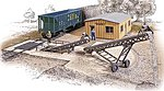 Bulk Transfer Conveyor - Kit -- HO Scale Model Railroad Building -- #3519