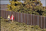 Wood Fence - Kit - Three 15'' Sections -- HO Scale Model Railroad Building Accessory -- #3521