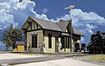 Golden Valley Depot - Kit - 6-1/2 x 3-3/8 x 4'' -- HO Scale Model Railroad Building -- #3532