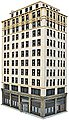 Ashmore Hotel - Kit - 8-5/8 x 4-7/16 x 13-7/8'' -- HO Scale Model Railroad Building -- #3764
