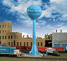 Modern Water Tower - Kit -- N Scale Model Railroad Building Accessory -- #3814