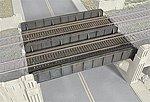 Through Plate-Girder Bridge - Kit -- N Scale Model Railroad Bridge -- #3820