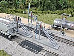 Four Modern Loading Racks - Kit -- HO Scale Model Railroad Trackside Accessory -- #4037