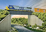 70' Single-Track Railroad Through Girder Bridge Kit -- HO Scale Model Railroad Bridge -- #4502
