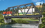 Modernized Double-Track Railroad Truss Bridge Kit -- HO Scale Model Railroad Bridge -- #4510