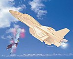 F16 Fighter (9'' Long) -- Wooden 3D Jigsaw Puzzle -- #1002