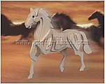 Horse (9'' Tall) -- Wooden 3D Jigsaw Puzzle -- #1015