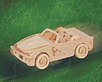 B740i SM Convertible Sports Car (6'' Long) -- Wooden 3D Jigsaw Puzzle -- #1020